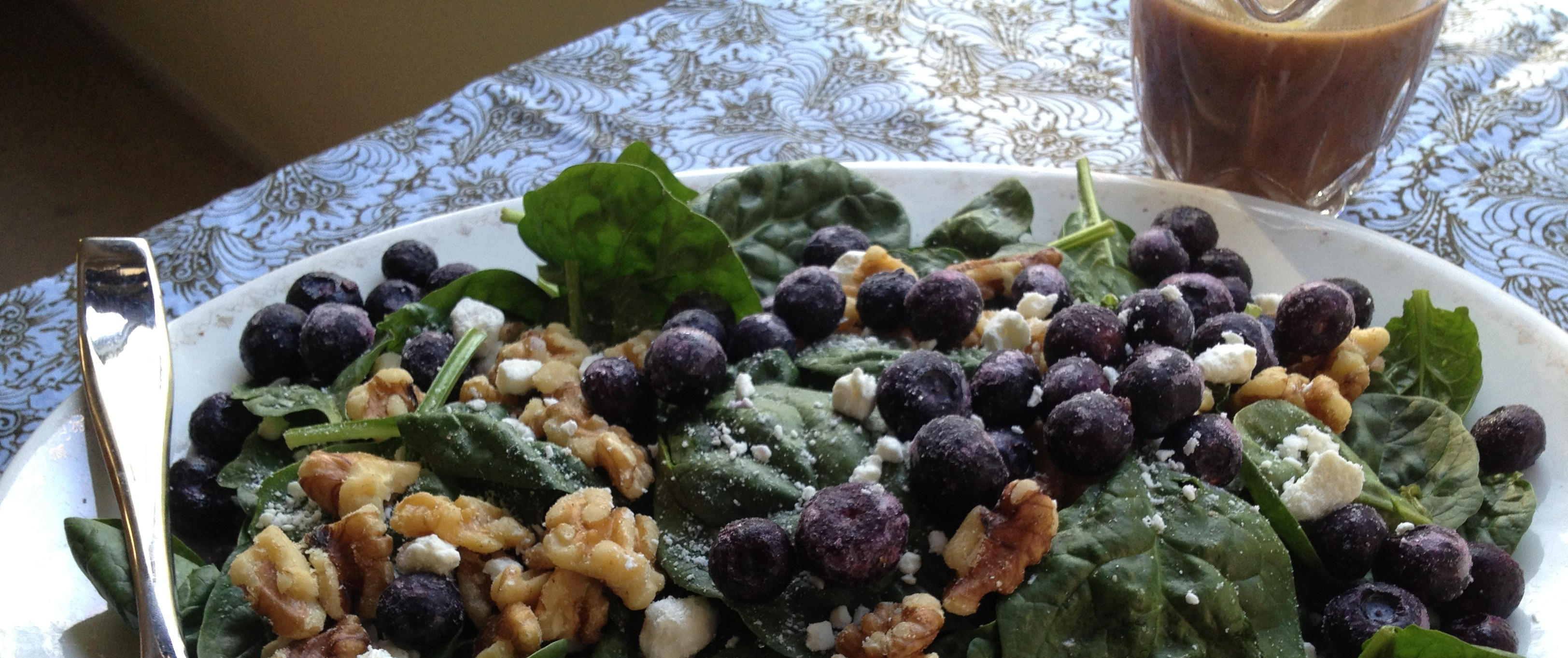 Rosemary Balsamic Dressing with Spinach Salad