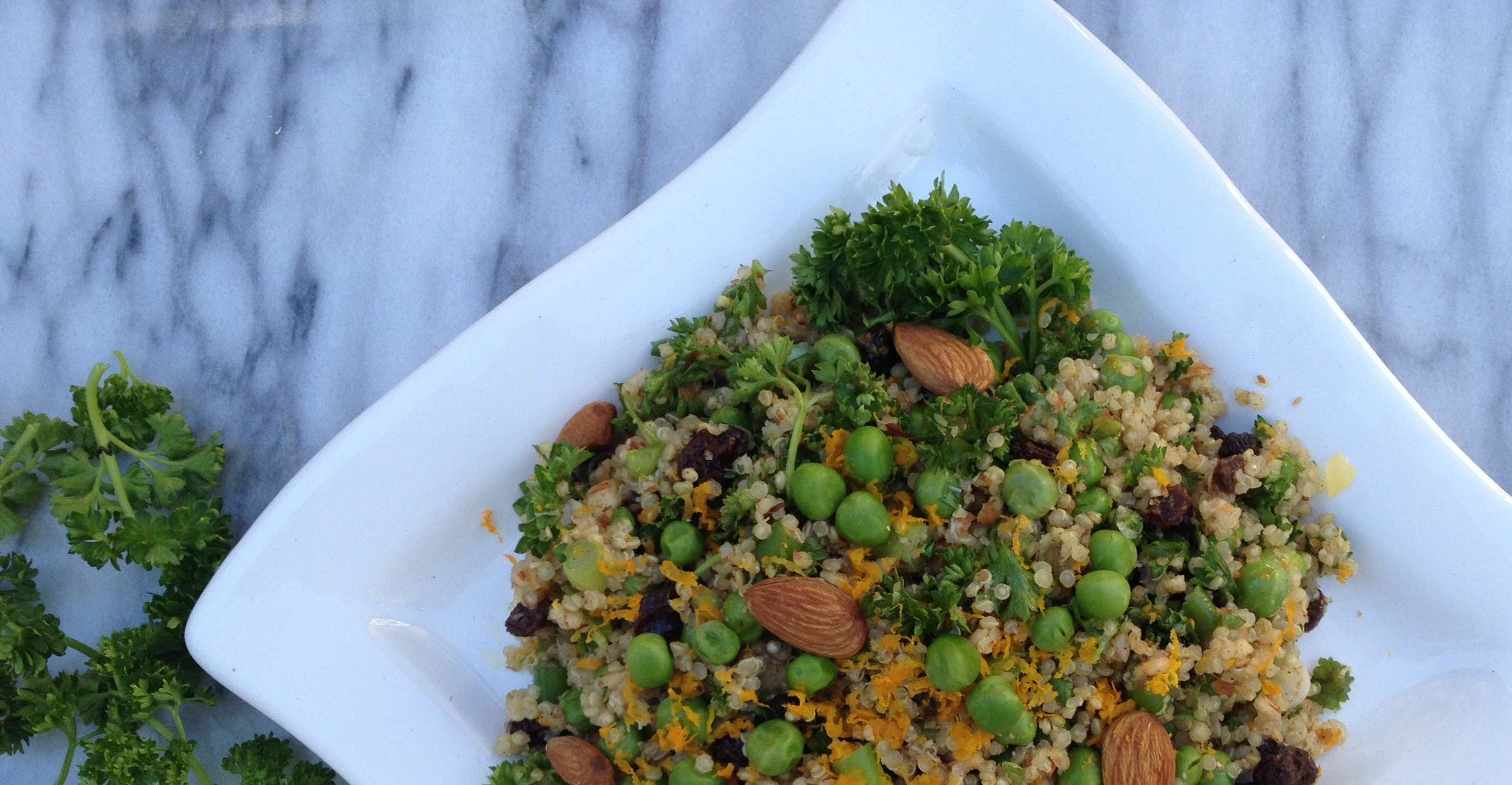 Parsley Pea Quinoa Salad