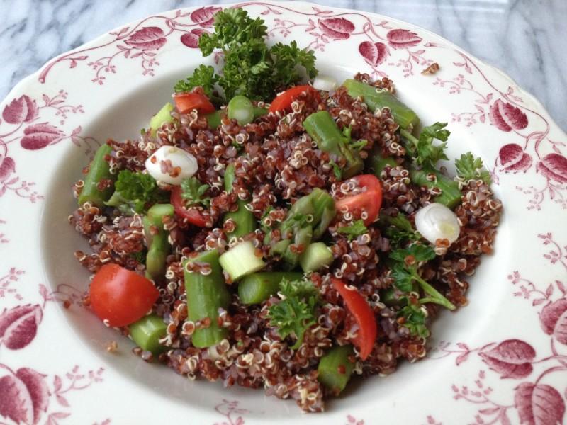 Red Quinoa Asparagus Salad