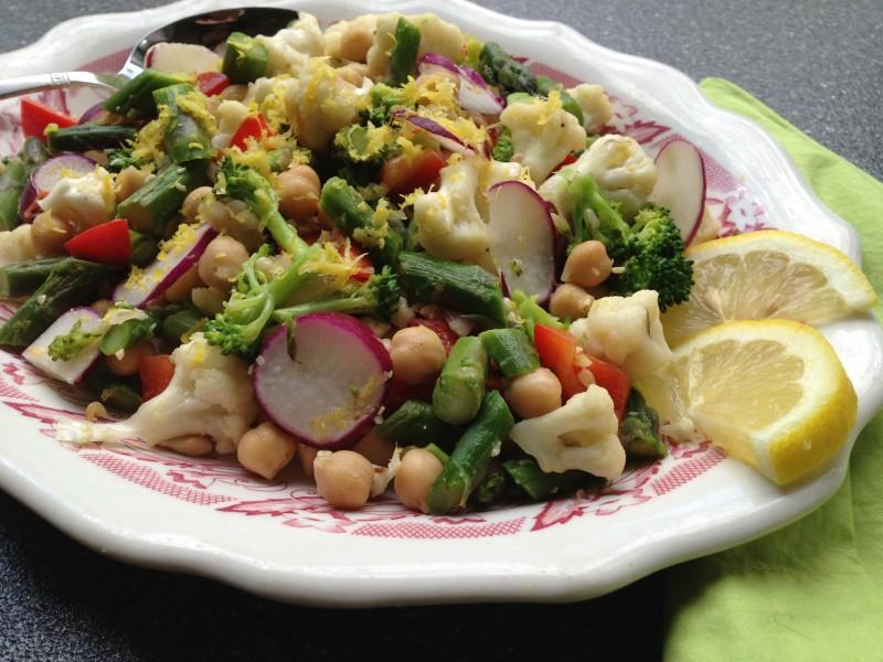 Asparagus Chickpea Salad