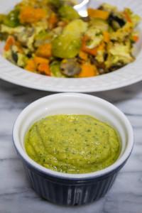 vegan chipotle Basil aioli sauce