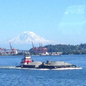 Seattle tugboat and barge
